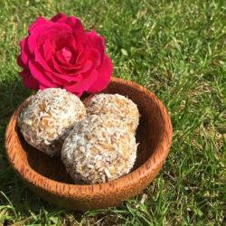 Medjool dates with walnuts & peanut butter