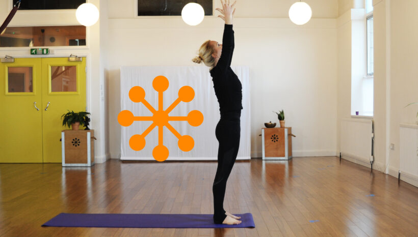 How Should You Move Your Arms To Start Sun Salutations?