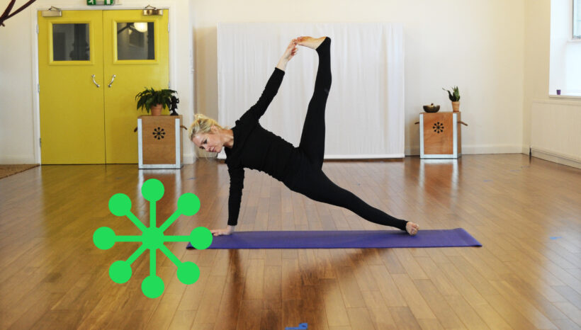 Why should you bring the standing hand forwards of the shoulder in Side Plank (Vasisthasana)?